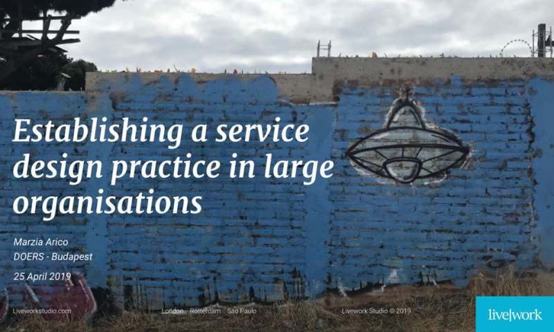 Establishing a service design practice in large organisations
