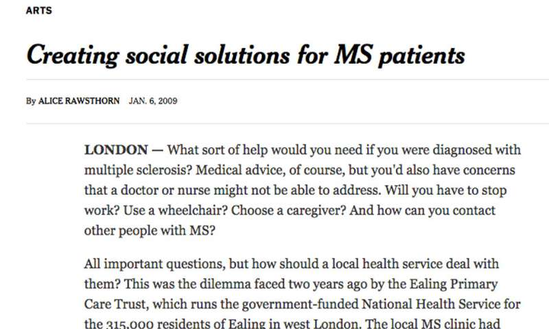 Creating social solutions for MS patients