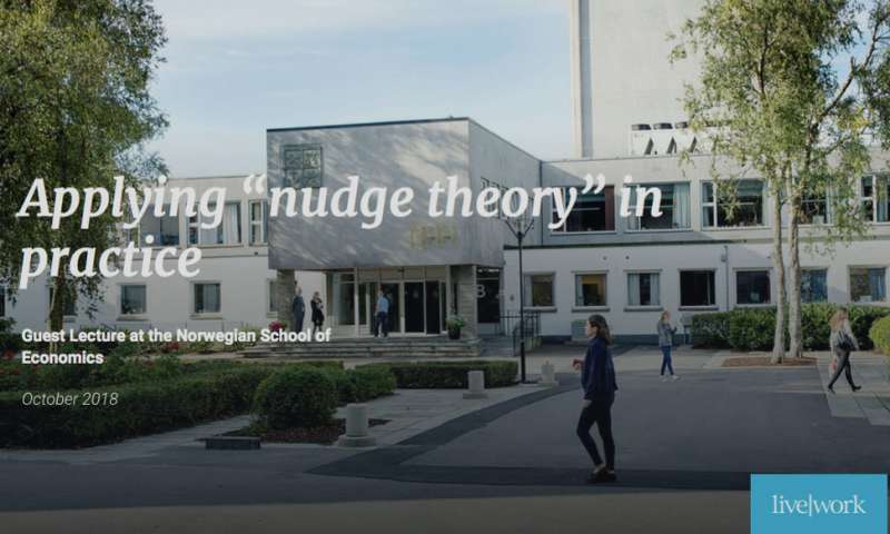 Applying nudge theory in practice