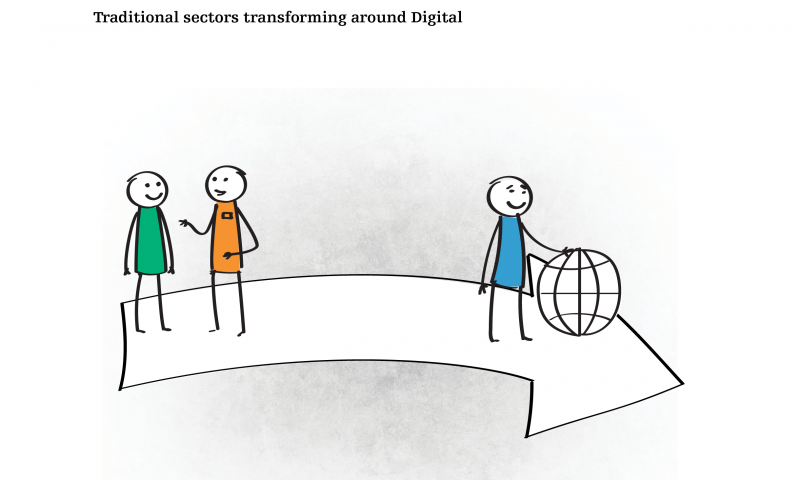 Traditional sectors transforming around digital