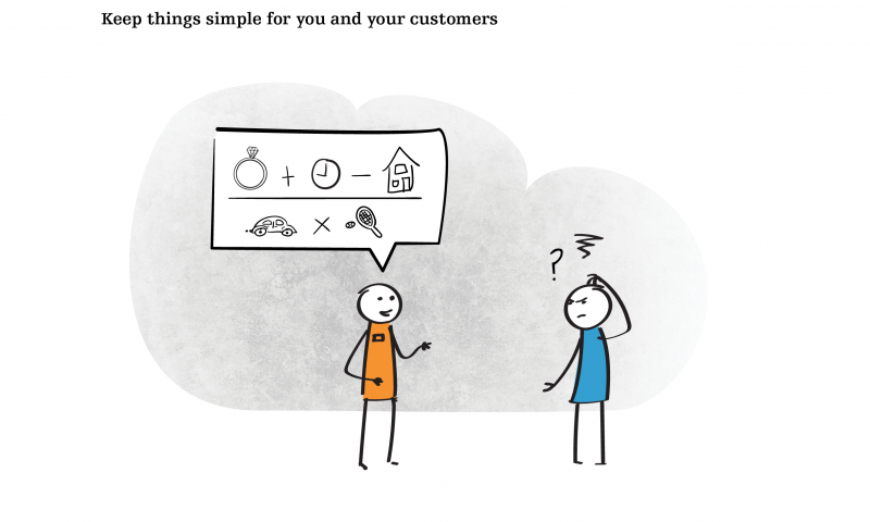Keep things simple for you and your customers