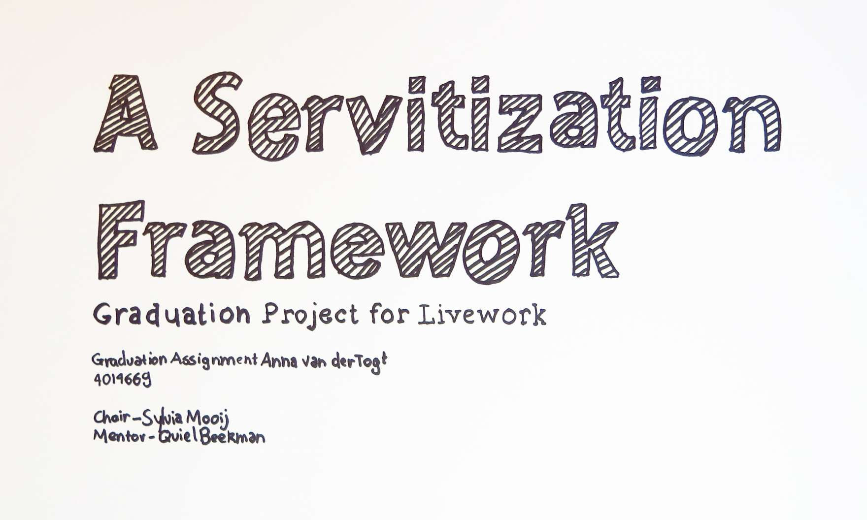 In this short movie Livework describes the phenomenon servitization and explains its involvement in this field.