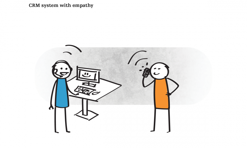 CRM system with empathy