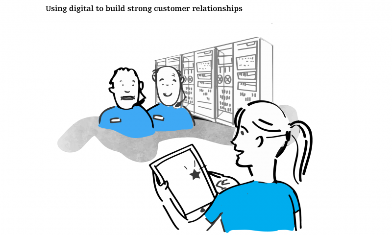 Using digital to build strong customer relationships