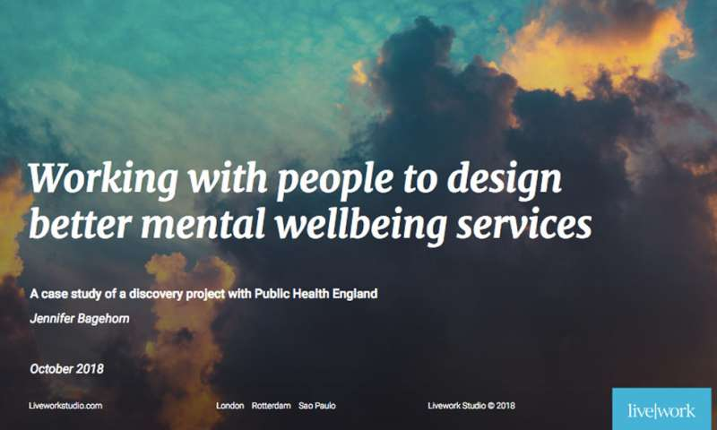 Working with people to design inclusive mental wellbeing services