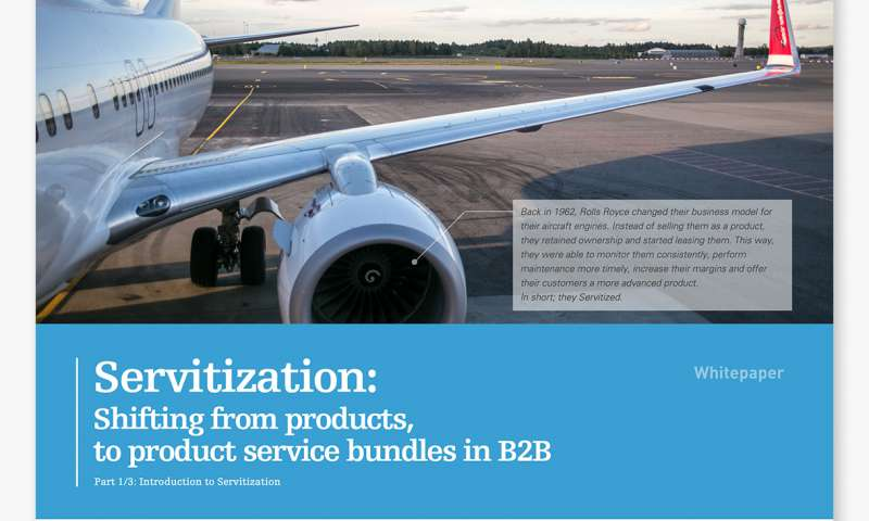 Servitization: Shifting from products, to product service bundles in B2B
