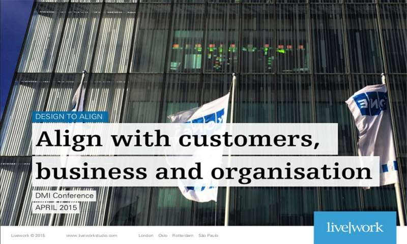 Align with customers, business and organisation