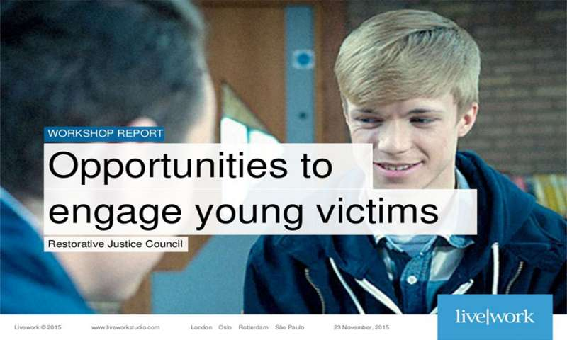 Opportunities to engage young victims