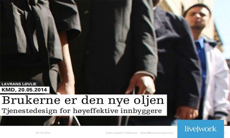Service design for high-performing citizens