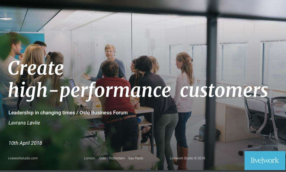 High performance customers through service design thinking